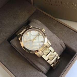 New Burberry City Gold-tone Ladies Bu9145 Watch